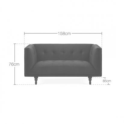 Cult living marlon 2 seater sofa velvet upholstered royal blue p14922 187339 image