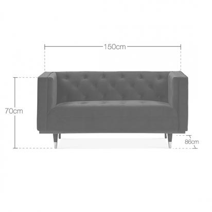 Cult living shawbrook 2 seater sofa velvet upholstered dark teal p14524 184016 image