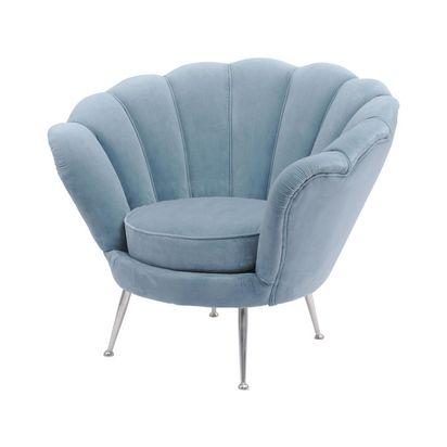 Cresta blue velvet shell chair 50801 p