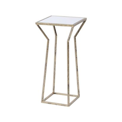 Rhonda antique gold mirrored side table 81705 p