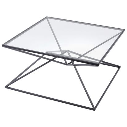 Piramide black metal and glass coffee table 78224 p
