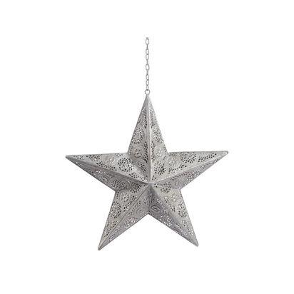 Lola silver filigree metal hanging star 111692 p