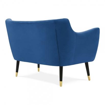 Cult living chaplin 2 seater sofa velvet upholstered royal blue p15183 194972 image