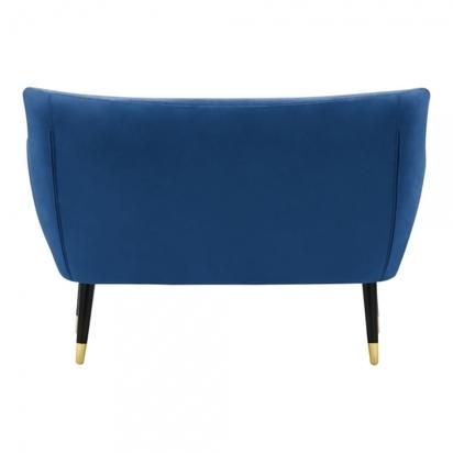 Cult living chaplin 2 seater sofa velvet upholstered royal blue p15183 194973 image