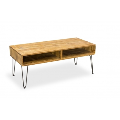 Industrial living hairpin retro coffee table solid mango wood p7994 98614 image