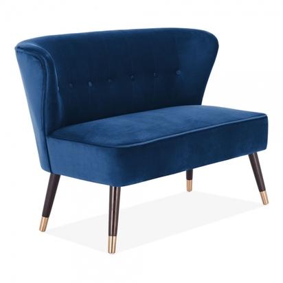Cult living penelope 2 seater sofa velvet upholstered royal blue p14454 189758 image