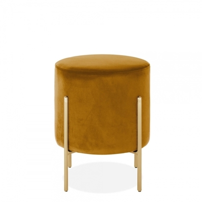 Cult living baltimore low stool velvet upholstered mustard p14511 184233 image