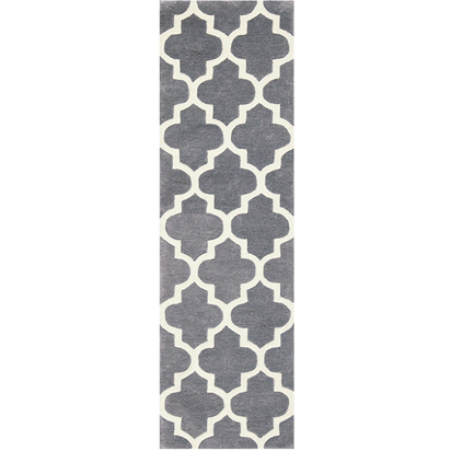 Arabesque grey hall runner