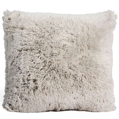 Vancouver grey faux fur cushion 45 x 45 cm 1000 14 4 120544 5