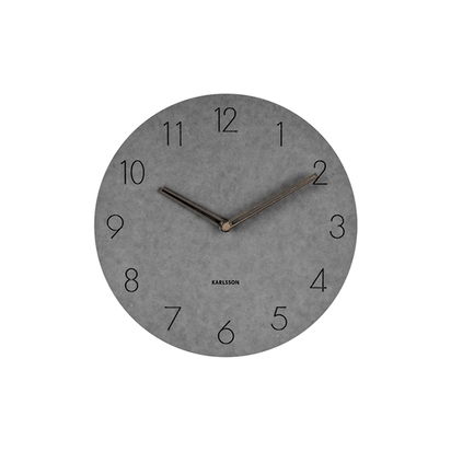 Karlsson dura wooden wall clock light grey p14857 183542 image