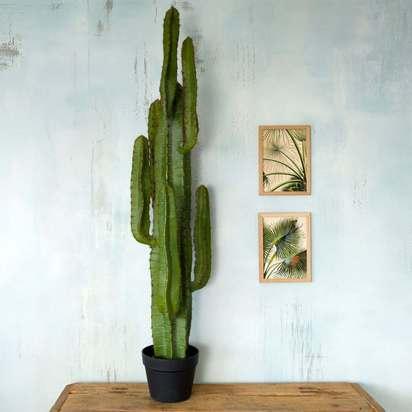 Pef2827 faux potted desert cactus