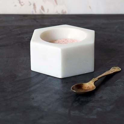 Sdi7747 hexagon marble salt pot