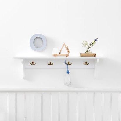 Childrens book storage shelf white oliver furniture