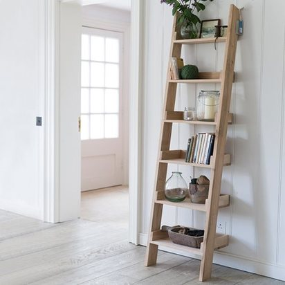 Hambledon raw oak narrow ladder from garden trading