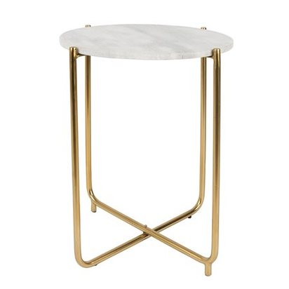 Timpa round side table in white