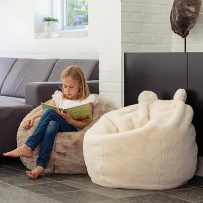 Childrens white polar bear bean bag