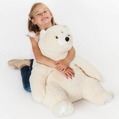 Large polar bear soft toy