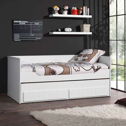 Robin white day bed with trundle and storage