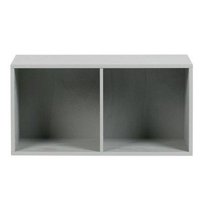 Simple concrete grey lowercase 2 open cabinet