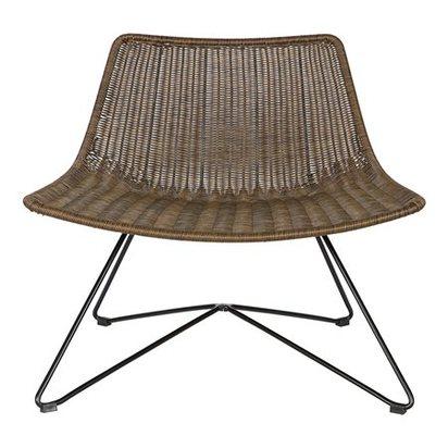 Brown woven armchair