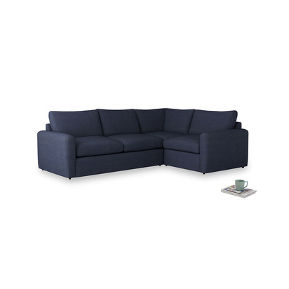 3206098 seriously blue clever softie chatnap corner sofa l rh
