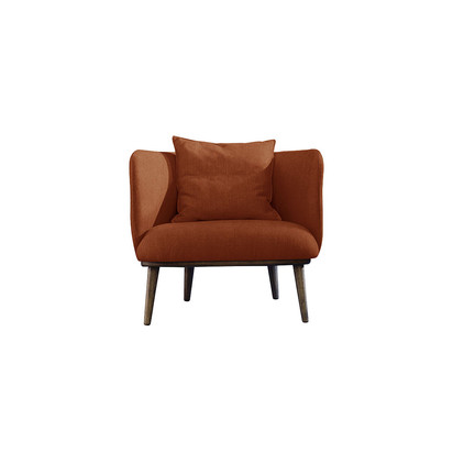 Isaac chair   new sr cotton velvet  rust