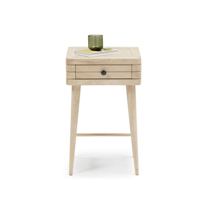 Loaf 3065960 little groover bleached oak bedside table %28compatible with spindle bed%29