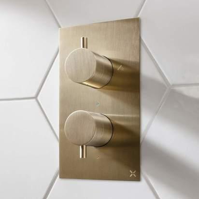 Brushed brass valve new