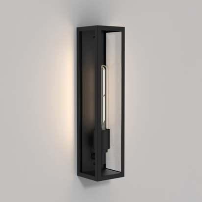Astro lights harvard exterior ip44 wall light in matt black p8073 16941 image