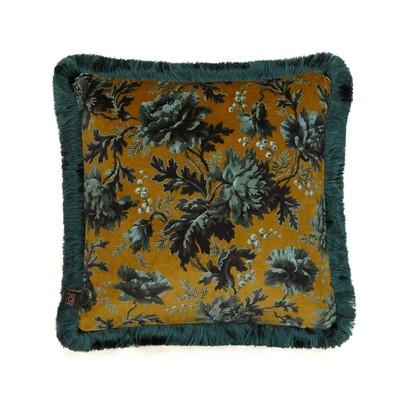 Opia medium fringe cushion bronze 2
