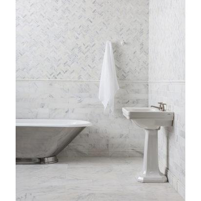 Alsace honed marble herringbone mosaic cornice skirting 4 1024x1214