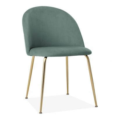 Heather dining chair velvet upholstered sage green p23505 2334424 image cult furniture