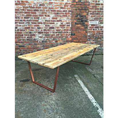 Reclaimed industrial chic 8 10 seater l240xw90xh75 %c2%a3435