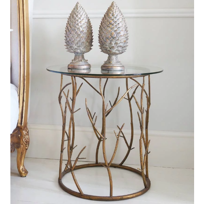 Branching out gold side table tfbc