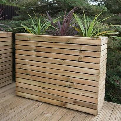 Forest garden tall linear planter