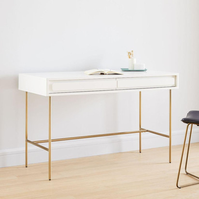 Gemini desk white lacquer h4290 hero z