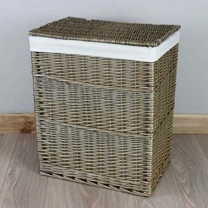 Slim antique wash wicker laundry basket p1110 4179 medium